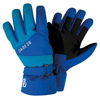Dare 2b - Boys' Fulgent Stretch Ski Gloves Oxford Blue