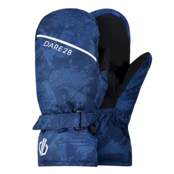 Dare 2b - Boys' Roaring Ski Mitts Dark Denim Geo Camo Print