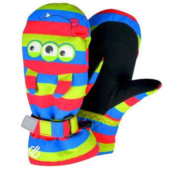 Dare 2b - Boys' Brainstorm Animal Ski Mitts Fiery Red Monster