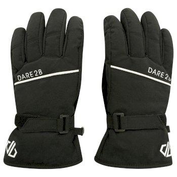 Dare 2b - Boys' Unbeaten Waterproof Breathable Ski Gloves Black