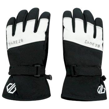 Dare 2b - Boys' Unbeaten Waterproof Breathable Ski Gloves Black White