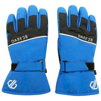 Dare 2b - Boys' Unbeaten Waterproof Breathable Ski Gloves Lapis Blue Black