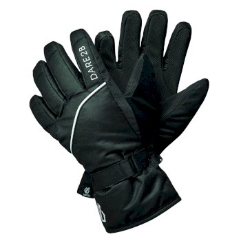 Dare 2b - Boys' Mischievous II Water Repellent Ski Gloves Black White