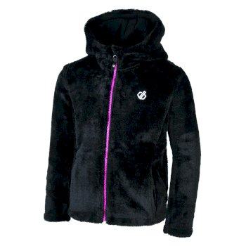 Dare 2b - Girls' Prelim Full Zip Hooded Fleece Black