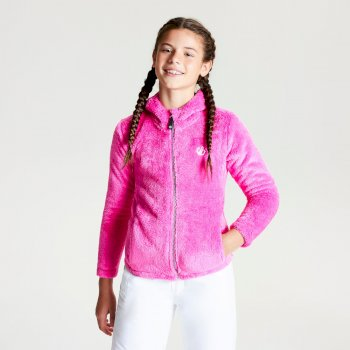 Dare 2b - Girls' Prelim Full Zip Hooded Fleece Cyber Pink