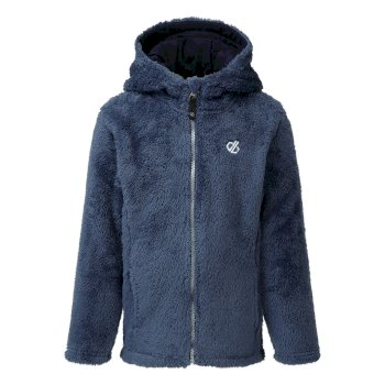 Dare 2b - Girls' Prelim Full Zip Hooded Fleece Dark Denim Dark Denim