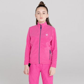 Girls' Inherit Zip Through Fleece Raspberry Rose