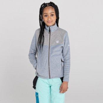 Girls' Inherit Zip Through Fleece Ash Grey Marl