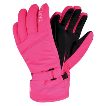 Dare 2b - Girls' Impish Waterproof Insulated Ski Gloves Neon Pink