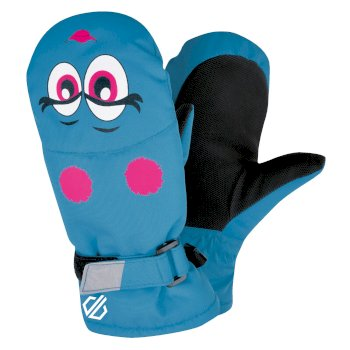 Dare 2b - Girls' Brainwave Animal Ski Mitts Atlantic Blue Face