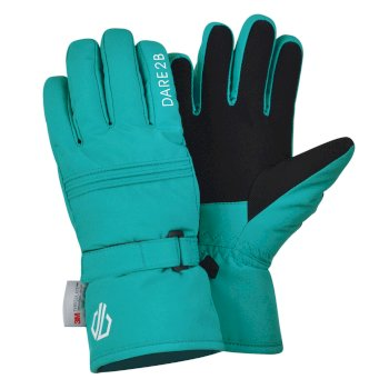 Dare 2b - Girls' Liveliness Waterproof Breathable Ski Gloves Ceramic Blue