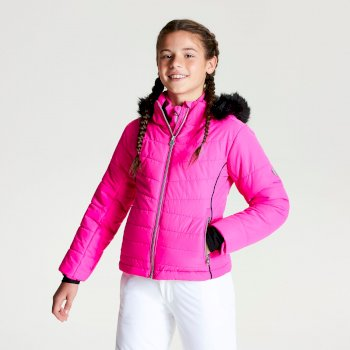 Dare 2b - Girls' Predate Ski Jacket Cyber Pink