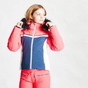Dziecięca kurtka narciarska Dare2B Estimate różowa - granatowa