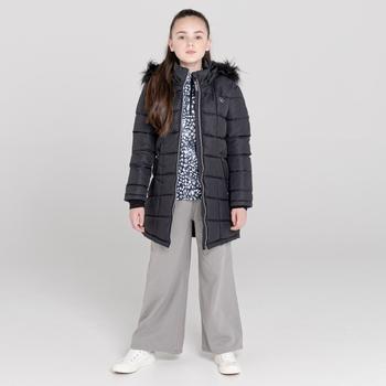 Girls' Striking Swarovski Embellished Waterproof Jacket Black