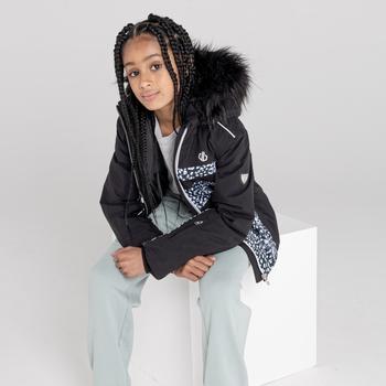 Dziecięca kurtka przeciwdeszczowa Dare2B Belief czarna