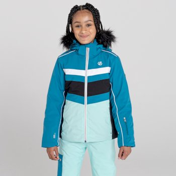 Dziecięca kurtka przeciwdeszczowa Dare2B Belief niebieska