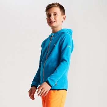 Kids' Enlist Full Zip Lightweight Hooded Fleece Atlantic Blue