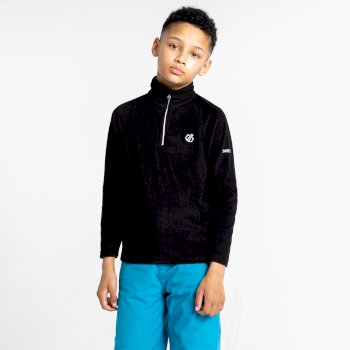Kids' Freehand Half Zip Lightweight Fleece Black