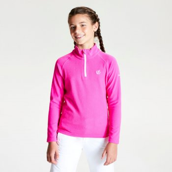 Kids' Freehand Half Zip Lightweight Fleece Cyber Pink