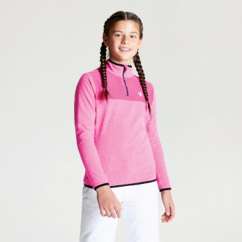 Dare 2b - Kids' Mountfuse Half Zip Fleece Cyber Pink