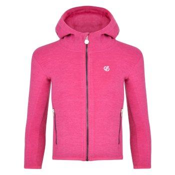Dare 2b - Kids' Genesis Full Zip Hooded Fleece Active Pink