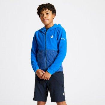 Dare 2b - Kids' Genesis Full Zip Hooded Fleece Athletic Outerspace Blue