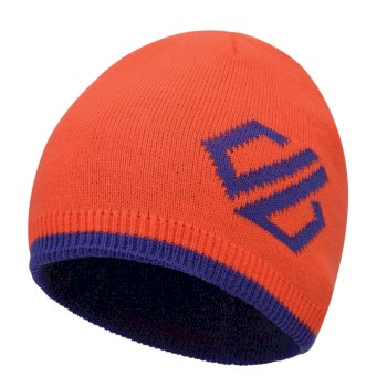 Kids' Frequent Beanie Hat Fiery Coral Simply Purple