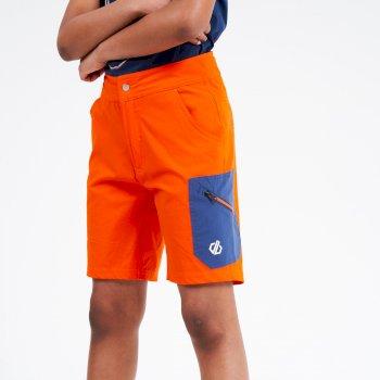 Dare 2b - Kids' Reprise Lightweight Walking Shorts Blaze Orange Dark Denim
