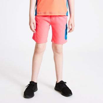 Dare 2b - Kids' Reprise Lightweight Walking Shorts Fiery Coral Petrol Blue