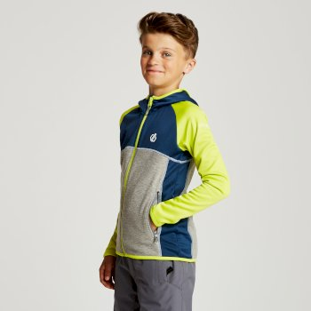 Dare 2b - Kids' Curate Core Stretch Midlayer Admiral Blue Citron Lime