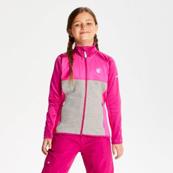 Dare 2b - Kids' Exceed Core Stretch Midlayer Fuchsia Cyber Pink