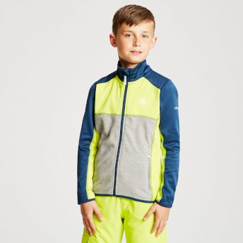 Dare 2b - Kids' Exceed Core Stretch Midlayer Admiral Blue Citron Lime