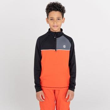 Dziecięca bluza termoaktywna Dare2B Formate czarna-pomarańczowa