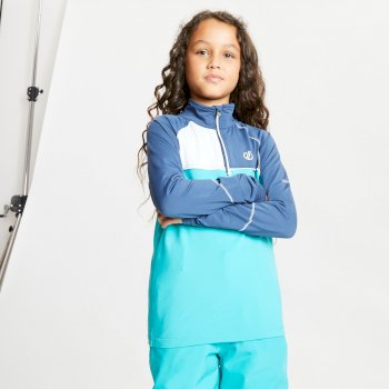 Dare 2b - Kids' Formate Core Stretch Half Zip Midlayer Dark Denim Ceramic Blue Dark Denim Ceramic Blue
