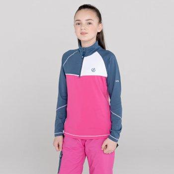 Dziecięca bluza termoaktywna Dare2B Formate różowa-granatowa