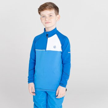 Dare 2b - Kids' Formate Core Stretch Half Zip Midlayer Lapis Blue Athletic Blue