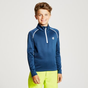 Dare 2b - Kids' Consist Core Stretch Half Zip Midlayer Admiral Blue