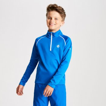 Dare 2b - Kids' Consist Core Stretch Half Zip Midlayer Oxford Blue