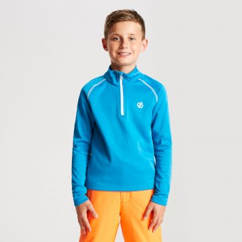 Dare 2b - Kids' Consist Core Stretch Half Zip Midlayer Atlantic Blue