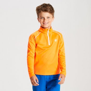 Dare 2b - Kids' Consist Core Stretch Half Zip Midlayer Vibrant Orange