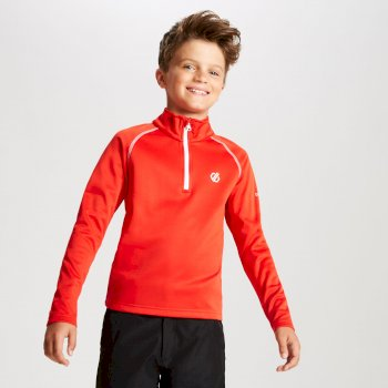 Dare 2b - Kids' Consist Core Stretch Half Zip Midlayer Fiery Red