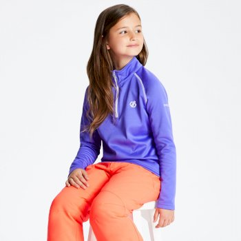 Dare 2b - Kids' Consist Core Stretch Half Zip Midlayer Simply Purple