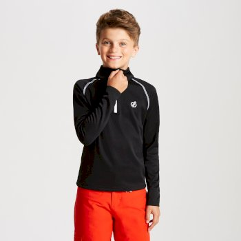 Dare 2b - Kids' Consist Core Stretch Half Zip Midlayer Black