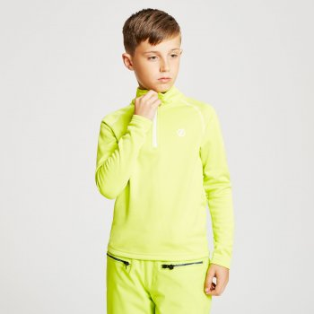 Dare 2b - Kids' Consist Core Stretch Half Zip Midlayer Citron Lime