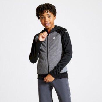 Dare 2b - Kids' Twofold Hooded Core Stretch Midlayer Ebony Black