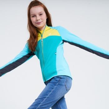 Dare 2b - Kids' Hasty Full Zip Hooded Lightweight Core Stretch Midlayer Horizon Blue Seabreeze Blue