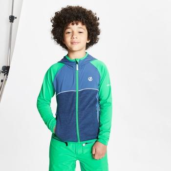 Dziecięca bluza narciarska Dare2B Hasty zielona - granatowa