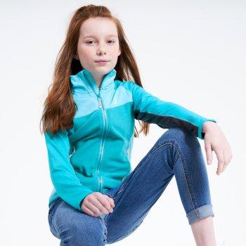 Dare 2b - Kids' Except Full Zip Lightweight Core Stretch Midlayer Seabreeze Blue Horizon Blue