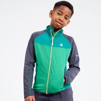 Dare 2b - Kids' Except Full Zip Lightweight Core Stretch Midlayer Ultramarine Green Ebony Grey
