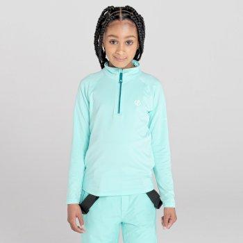 Dare 2b - Kids' Consist II Half Zip Lightweight Core Stretch Midlayer Aruba Blue